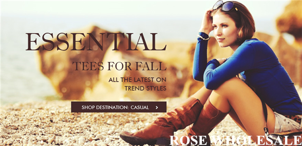 Fall Essentials! Up to 56% OFF for Massive Long Sleeves at Rosewholesale! Tees for Fall, All the Latest on Trendy Styles!