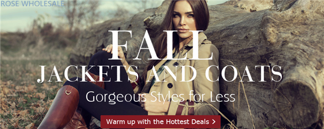 Fall Jackets & Coats! Up to 52% OFF for Massive Stunning Women's Jackets and Coats at Rosewholesale! Gorgeous Styles for Less!