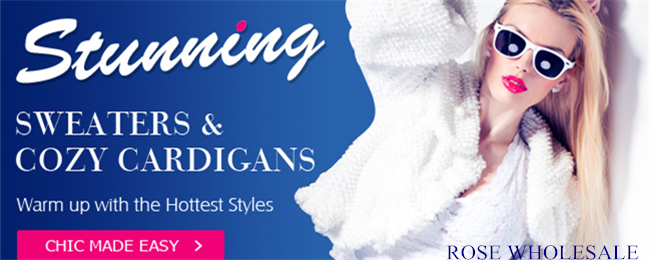 Up to 58% OFF for 663 Styles of Women's Sweaters and Cardigans at Rosewholesale!