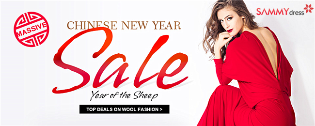 Massive Chinese New Year Sales @sammydress