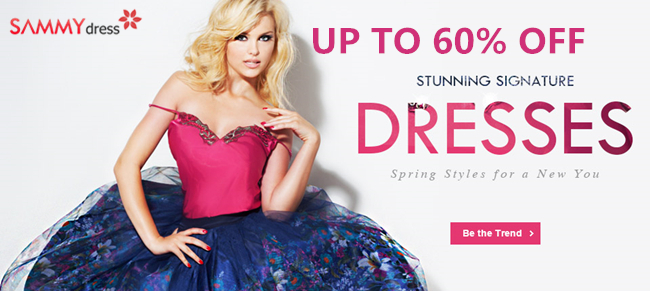 Up to 60% OFF: Stunning Dresses @sammydress.com