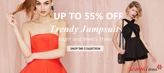 Up to 55% OFF: Trendy Jumpsuits @sammydress.com