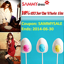 10% OFF Site-wide Coupon: SAMMYSALE. Ends on 2014-06-30!