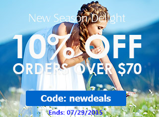 New Apparel: Take 10% OFF $70+ at Rosewholesale! (Ends: 07/29/2015)