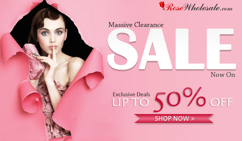Massive Clearance! UP to 50% OFF for Thousands of Fashion Items! Start Big Saving Now! Best Time to Get Your Favorite Dresses, Coats, Shoes, Bags, etc at rosewholesale.com!
