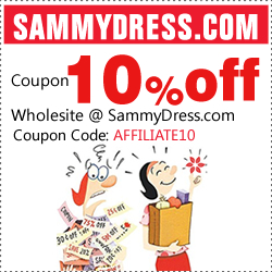 Coupon 10% off wholesite @ SammyDress.com