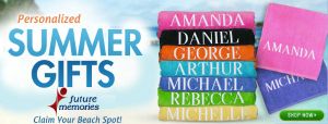 Shop Personalized Summer Gifts at FutureMemories.com