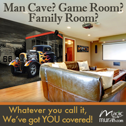 Man Cave? Game Room? Family Room? Whatever Dad calls it, MagicMurals.com has you covered for Father's Day with Free Shipping!