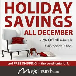 Take 25% Off + Free Shipping on All Murals at MagicMurals.com Now Through Dec. 30th!