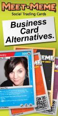 Meet-Meme Social Trading Cards - Business Card Alternatives