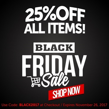 Enjoy Black Friday with 25% Off
