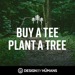 For the month of April, DesignByHumans.com will donate a tree for every tee purchased from the Eco Collection.