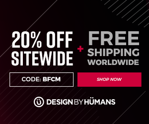 Black Friday & Cyber Monday! Save 20% off sitewide with coupon code: BFCM plus free worldwide shipping on apparel.