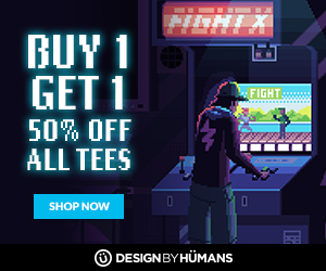 All tees are buy 1 get 1 50% off with coupon code: ARCADE.
