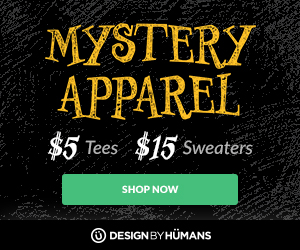 All mystery apparel tees are $5 and sweatshirts are $15.