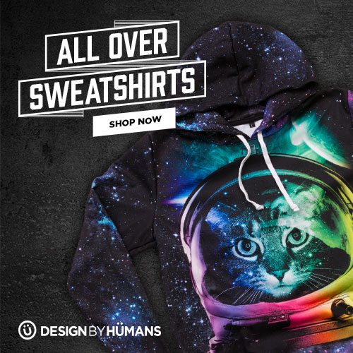 Shop all over sweatshirts for over sized prints and a softer lighter feel.