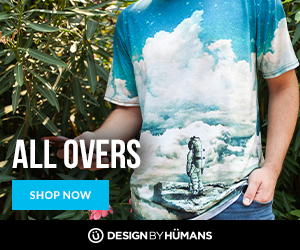 Shop men's & women's all over tees at DesignByHumans.com.