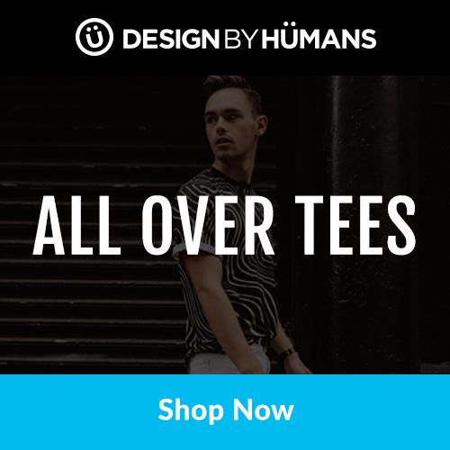 Shop men's & women's all over tees at DesignByHumans.com.
