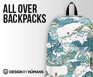 Get a stylish, all over printed backpack at DesignByHumans.com.