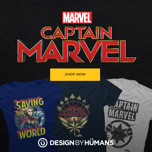Shop Captain Marvel apparel at DesignByHumans.com.