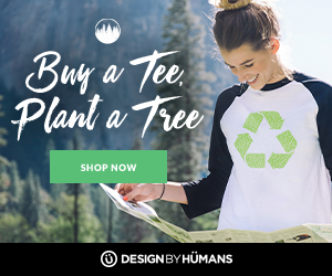 Buy a tee, plant a tree! Purchase a tee from the eco collection and DesignByHumans.com will donate a tree.