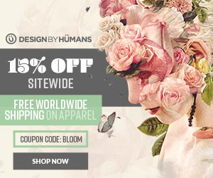 Save 15% off sitewide with coupon code: BLOOM. Plus free shipping worldwide on apparel