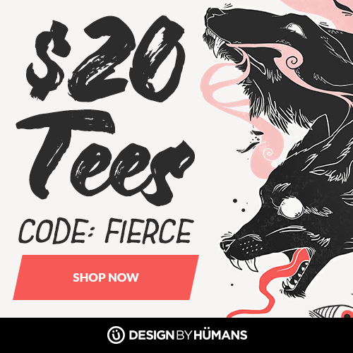 All tees are $20 with coupon code: FIERCE.
