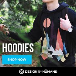 Shop men's & women's hoodies at DesignByHumans.com.