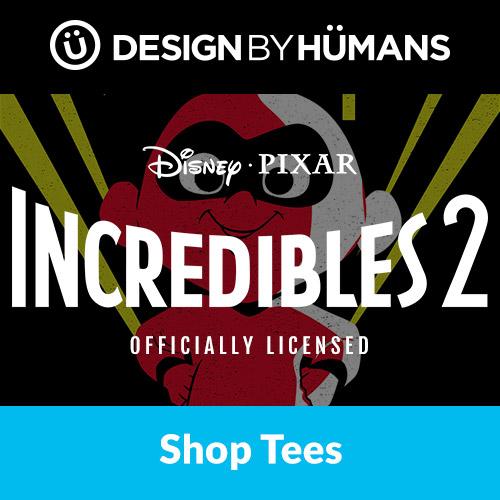 Shop 'Incredibles 2' apparel at DesignByHumans.com.