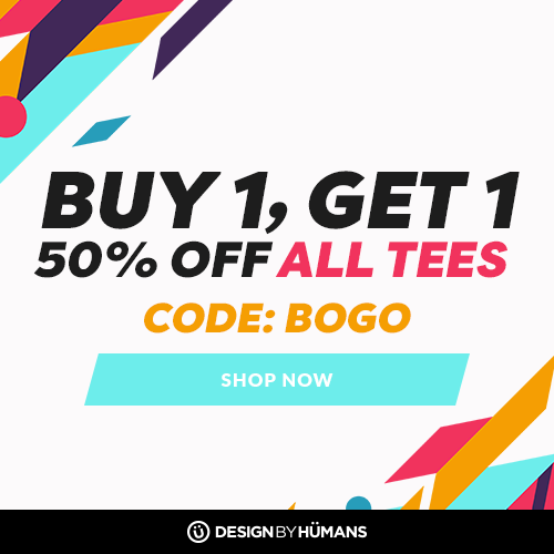 All tees are buy 1 get 1 50% off with coupon code: BOGO.