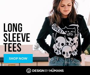 Shop long sleeve tees at DesignByHumans.com.