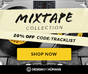 Save 20% off all apparel in the Mixtape Collection with coupon code: TRACKLIST.