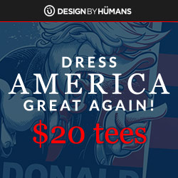 $20 t-shirt sale from now through President's Day. Use coupon code: PD20.