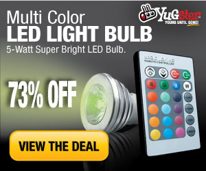 Multi-Color 5-Watt LED Lightbulb 73% OFF