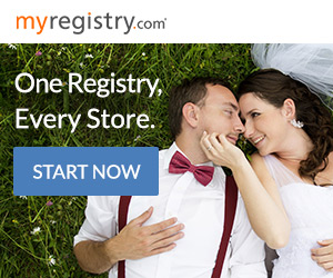 Online wedding registry, MyRegistry, ad