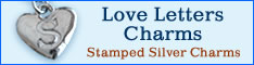 Love Letters Charms, Hand-Stamped Sterling Silver Charms from Santa Barbara, California