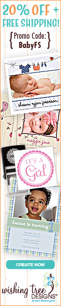 Get 20% Off + Free Shipping on Baby Shower Invitations, Birth Announcements & More with code BabyFS. Offer valid through 4/30/2013.