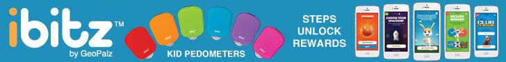 walk to win with GeoPalz pedometers