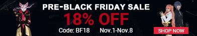 18% OFF for Pre-Black Friday Sale on Cosplay