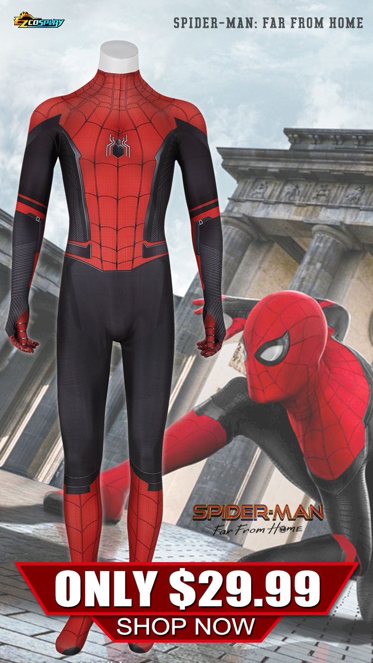 Spider-Man: Far From Home Cosplay Costume Only $29