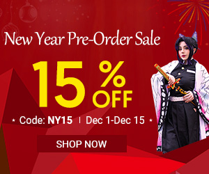 15% OFF for New Year Pre-order Sale