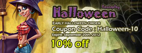Halloween 10% discount
