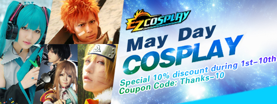 May Day 10% discount