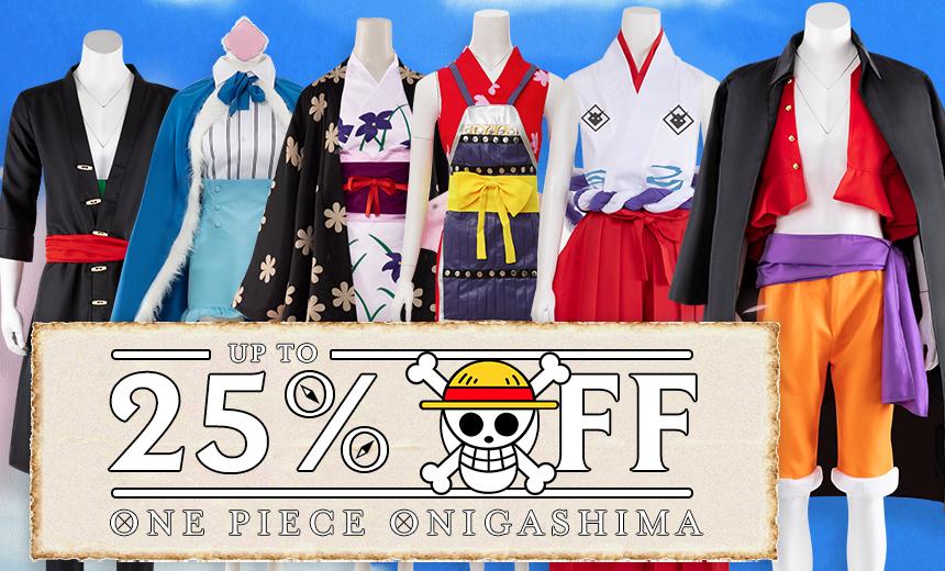 25% Off One Piece Onigashima Series Cosplay Costumes