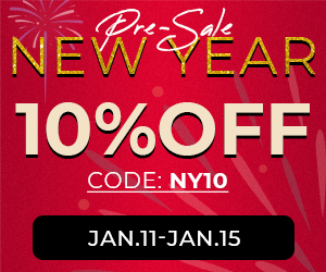 10% Off Sitewide for New Year Sale