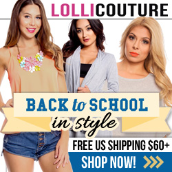 Back To School at LolliCouture.com!