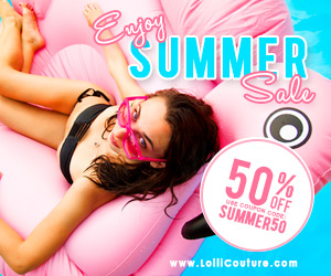 All products 50% price marked down!Take additional 20% off all items at LolliCouture.com.Use Coupon Code: coming20.Ends on 02/02/2016.