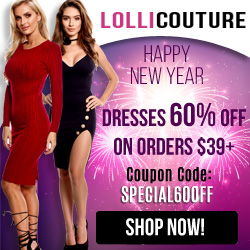New Year Special - Take 60% off orders $39+ at LolliCouture.com!