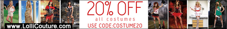 "Save 20% OFF All Costumes at LolliCouture.com With Coupon Code ""COSTUME20""! From Now On!"