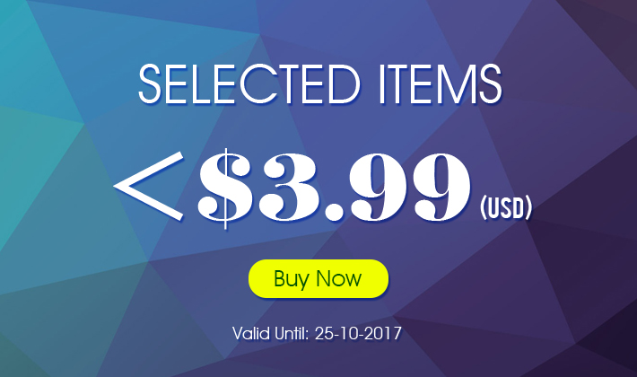 Selected Items! No more than $3.99!